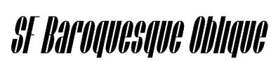 SF Baroquesque Oblique Font