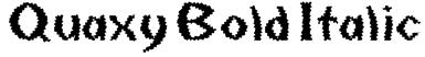 Quaxy Bold Italic Font