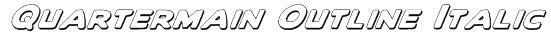 Quartermain Outline Italic Font