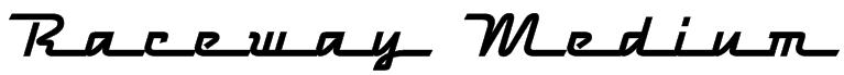 Raceway Medium Font