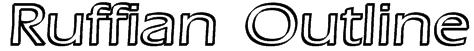 Ruffian Outline Font