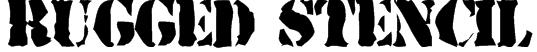 Rugged Stencil Font