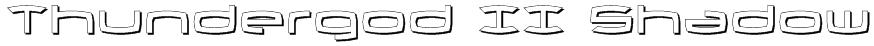 Thundergod II Shadow Font