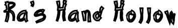 Ra's Hand Hollow Font