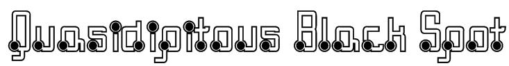 Quasidipitous Black Spot Font