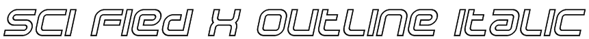 Sci Fied X Outline Italic Font