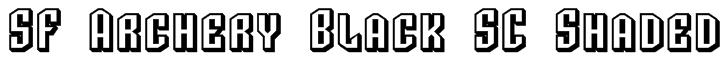 SF Archery Black SC Shaded Font