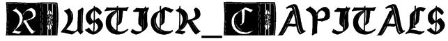Rustick_Capitals Font