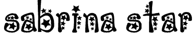 sabrina star Font