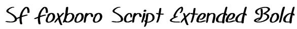 SF Foxboro Script Extended Bold Font