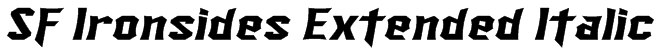 SF Ironsides Extended Italic Font
