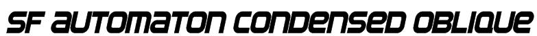 SF Automaton Condensed Oblique Font