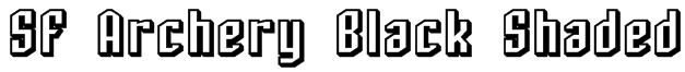 SF Archery Black Shaded Font