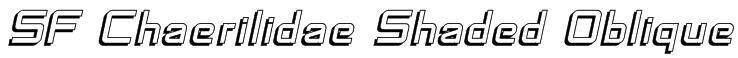 SF Chaerilidae Shaded Oblique Font