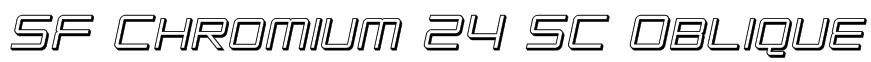 SF Chromium 24 SC Oblique Font