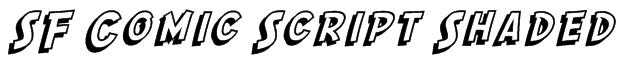 SF Comic Script Shaded Font