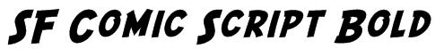 SF Comic Script Bold Font