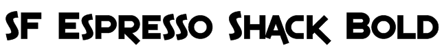 SF Espresso Shack Bold Font