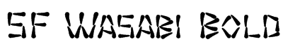 SF Wasabi Bold Font