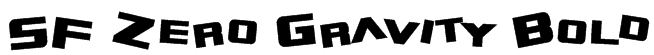 SF Zero Gravity Bold Font