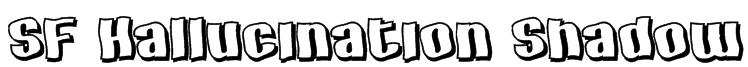 SF Hallucination Shadow Font