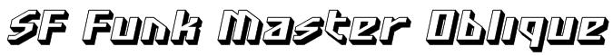 SF Funk Master Oblique Font