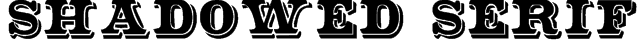 Shadowed Serif Font