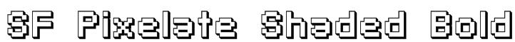 SF Pixelate Shaded Bold Font