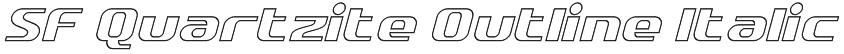 SF Quartzite Outline Italic Font