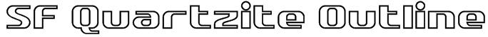 SF Quartzite Outline Font