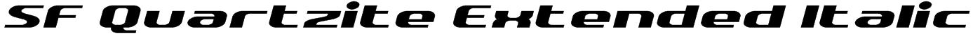 SF Quartzite Extended Italic Font