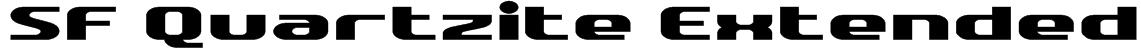 SF Quartzite Extended Font