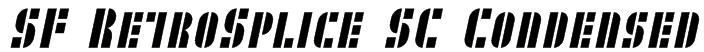 SF RetroSplice SC Condensed Font