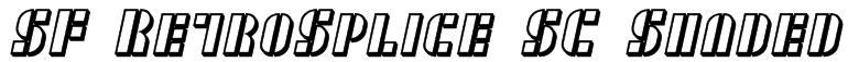 SF RetroSplice SC Shaded Font
