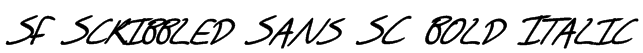 SF Scribbled Sans SC Bold Italic Font