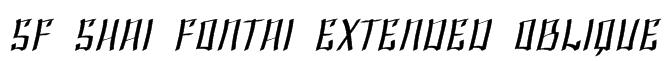 SF Shai Fontai Extended Oblique Font