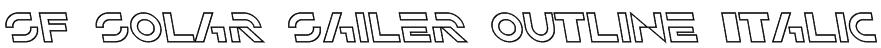 SF Solar Sailer Outline Italic Font