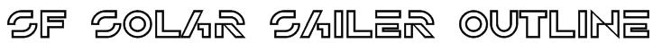 SF Solar Sailer Outline Font