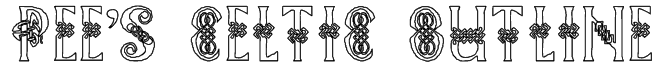 Pee's Celtic outline Font