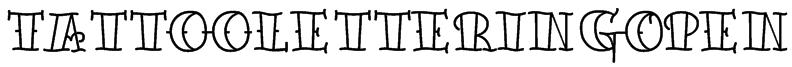 TattooLetteringOpen Font
