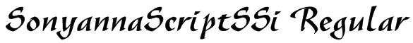 SonyannaScriptSSi Regular Font