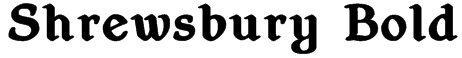 Shrewsbury Bold Font