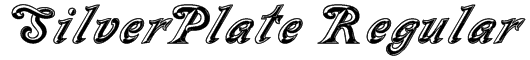SilverPlate Regular Font
