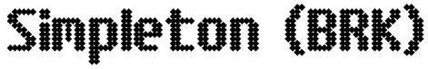 Simpleton (BRK) Font