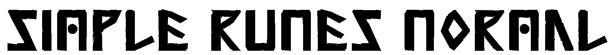 Simple Runes Normal Font