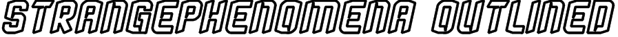 StrangePhenomena Outlined Font