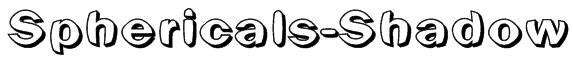 Sphericals-Shadow Font