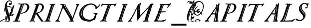 Springtime_Capitals Font