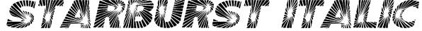 Starburst Italic Font