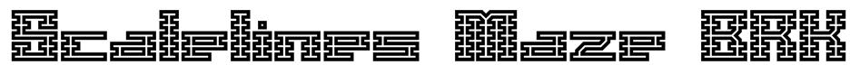 Scalelines Maze BRK Font